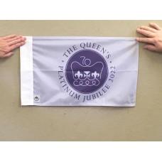 "Platinum Jubilee Flag  18"" x 12"" /45 x 30 cm"
