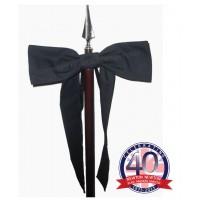Banner Pole Funeral Ribbon