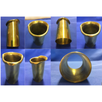 Hollow brass insert with flared lip