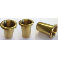 Solid lacquered brass insert