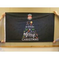 CHRISTMAS FLAG - FOOTBALL  3ft x 2ft / 90x60