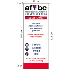 AFVBC ROLL-UP BANNER