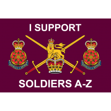 I SUPPORT SOLDERS A-Z [QUEENS LANCS]  3' x 2' / 90 x 60