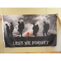 LEST WE FORGET Flag - 5ft x 3ft