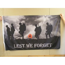 LEST WE FORGET Flag - 5ft x 3ft