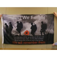 LEST WE FORGET (EXHORTATION OF REMEMBRANCE) Flag - 5ft x 3ft