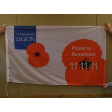 11.11.11 PAUSE TO REMEMBER Flag - 5ft x 3ft