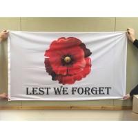 LEST WE FORGET - POPPY FLAG 5 x 3 / 152x91cm