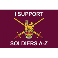I Support Soldiers A-Z  3' x 2'  / 90x60