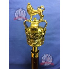 Solid brass Lion and Crown Finial